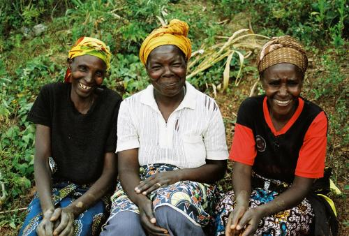 women smiling in Kibali